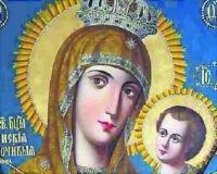 Привезенная в киевский Николо-Иорданский храм чудотворная икона Божьей Матери Тихвинская-Слезоточивая помогает излечиться от болезней глаз