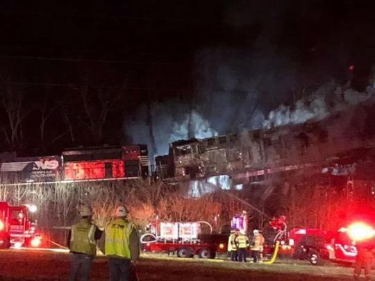 ВКентукки столкнулись два грузовых поезда