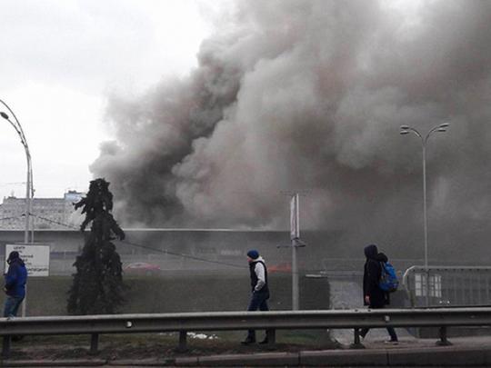 Масштабный пожар в Киеве закрыта станция метро Левобережная                 18:31        —        28 марта 2