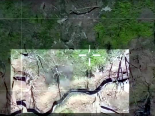 Дроны бойцов Яроша бомбят позиции боевиков под Донецком