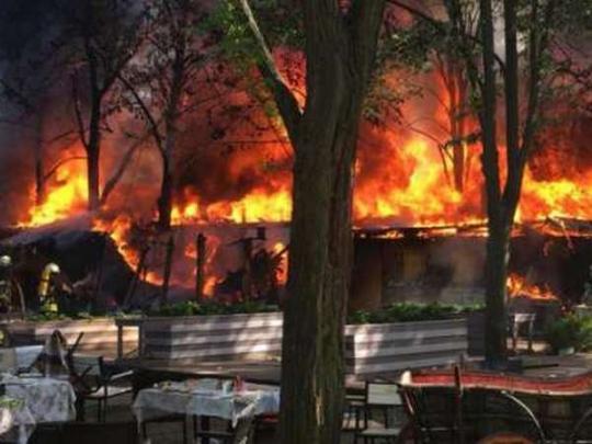 ВОдессе 1мая сгорел бар «ВДВ»