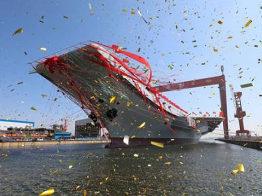 КНР начала ходовые тестирования первого китайского авианосца 13мая