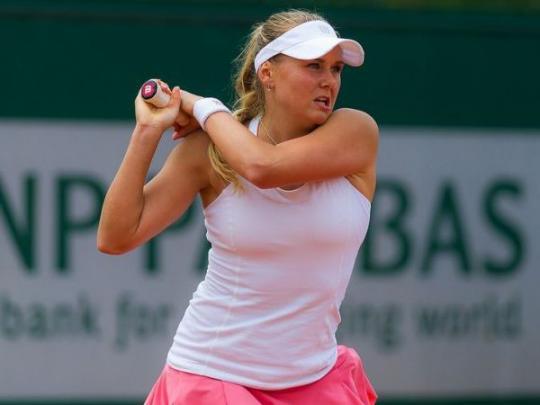 Украинская теннисистка Козлова сенсационно выбила победительницу Ролан Гарроса настарте турнира