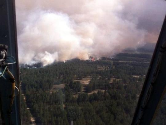 Названа причина масштабного пожара в Херсонской области