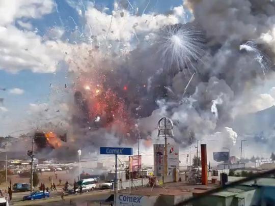 Взрыв на фабрике фейерверков в Мексике: погибли 19 человек