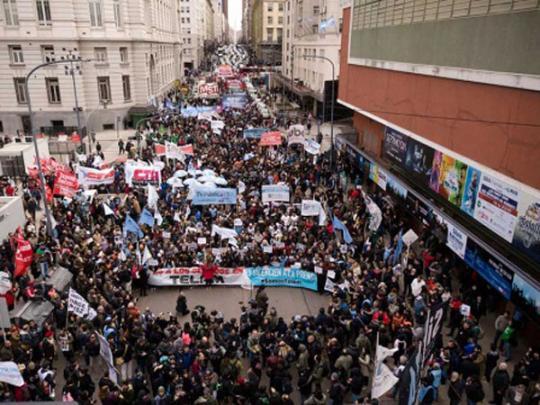 Демонстрации в Аргентине