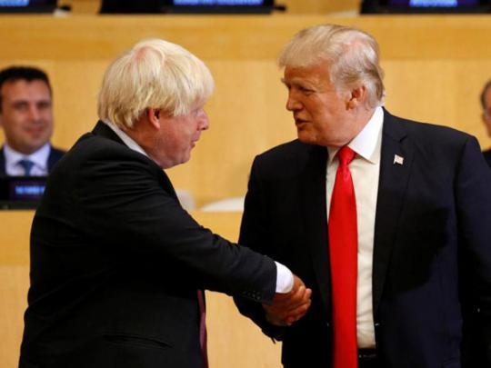 """Трамп назвал """"отличного кандидата"""" на пост премьера Британии"""