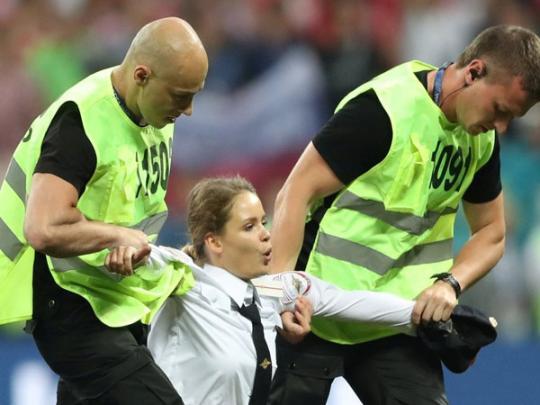 В Москве арестовали активистку, пытавшуюся сорвать финал ЧМ-2018