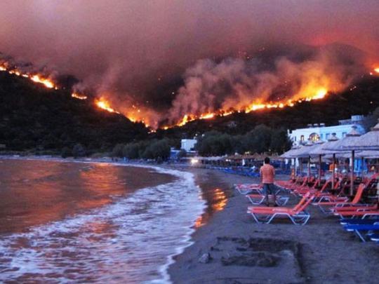 В Греции задержали подозреваемого в поджогах леса