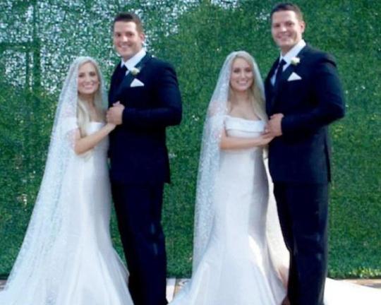 В США одновременно сыграли свадьбу две пары идентичных близнецов