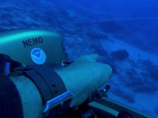ВБермудском треугольнике отыскали  затонувший «НЛО»