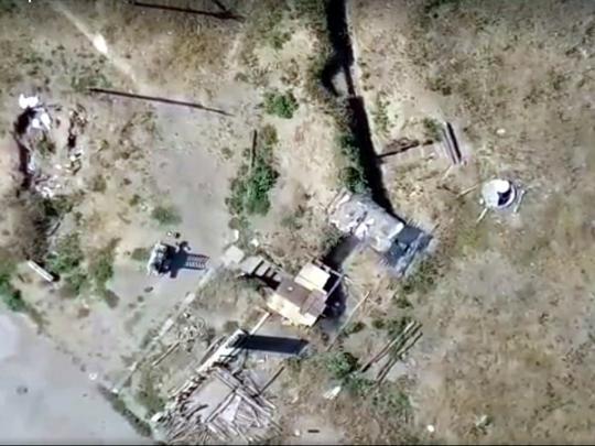 Уничтожение позиции боевиков