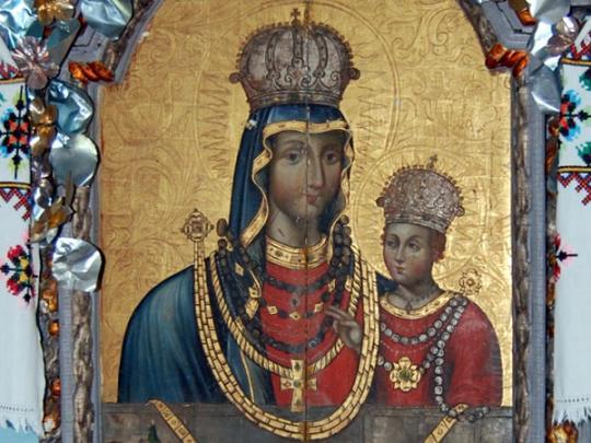 ікона Божої Матері у волинському селі Секунь