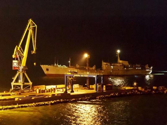 Суда в порту Мариуполя