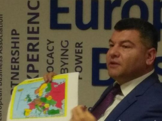 Украинский чиновник презентовал карту с русским Крымом