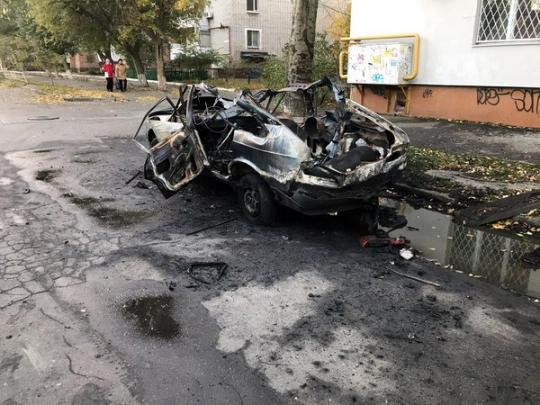 Взрыв авто в Бердянске