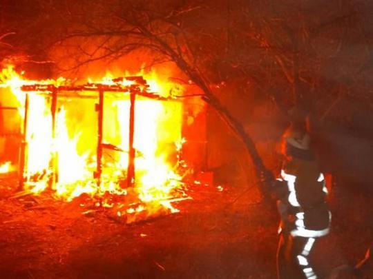 Пожар в Узине