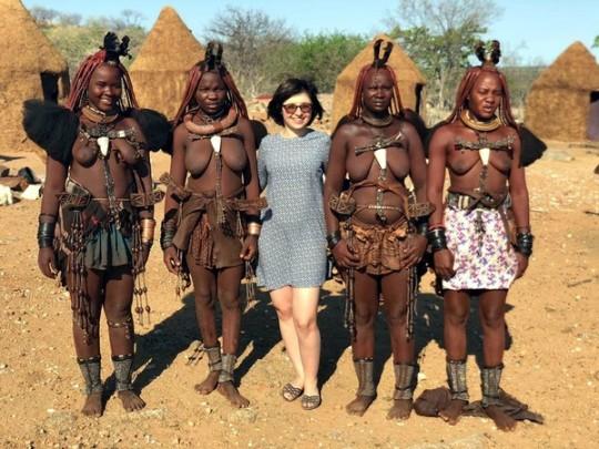 Наталья Панченко в племени химба
