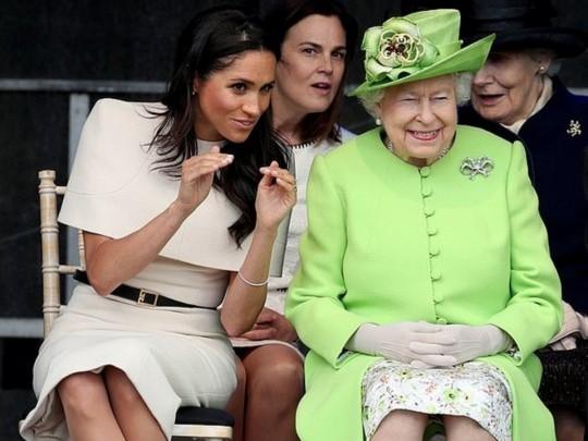 Меган Маркл и королева Елизавета