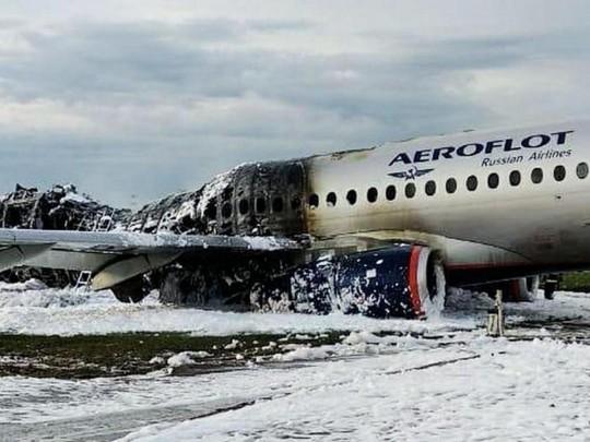 SSJ-100 после пожара в Шереметьево