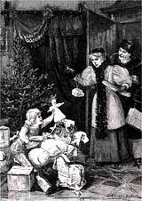 В средневековой европе праздничную елку вешали