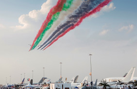 The UAE Air Force aerobatic team Dubai Airshow 2015