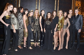 Alexina Graham, Lola Le Lann, Liya Kebede, Kristina Bazan, Thylane Blondeau, Doutzen Kroes, Xiao Wen, Cheryl Cole, Barbara Palvin, Natasha Poly, Bianca Balti, Karlie Kloss, Lucky Blue Smith attend the Gold Obsession Party - L'Oreal Paris