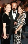Dame Kristin Scott Thomas, Evgeny Lebedev and Helen McCrory The London Evening Standard Theatre Awards