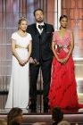 presenters Sienna Miller, Ben Affleck and Zoe Saldana