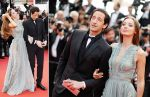 Adrien Brody (L) and model Lara Lieto