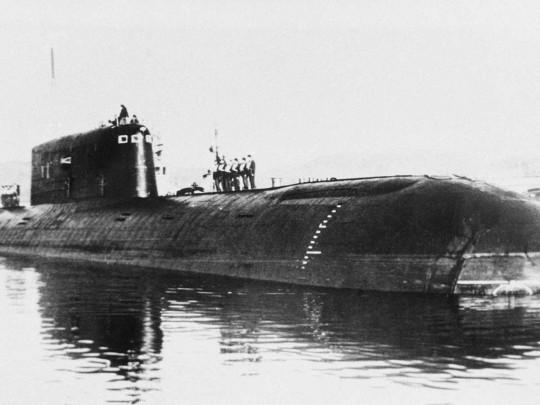 Затонувшая атомная подлодка Комсомолец