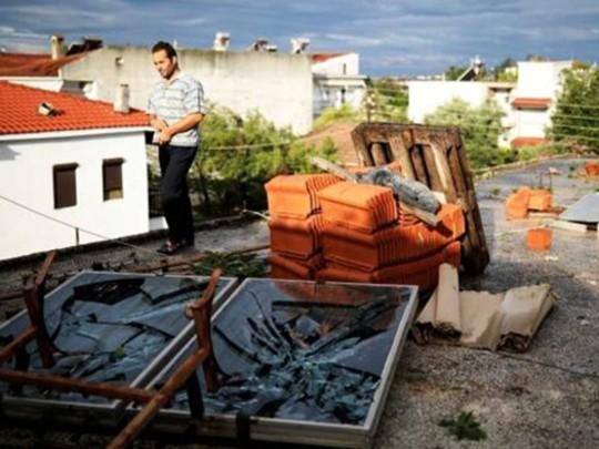 Шторм в Греции