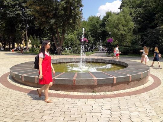жаркая погода в Киеве