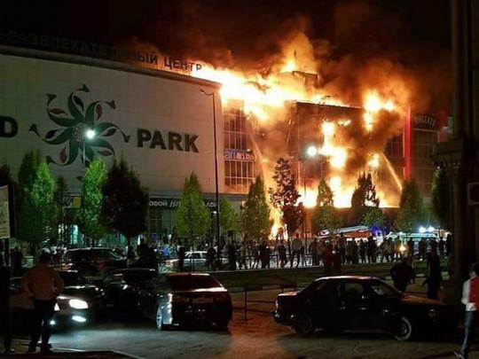 Пожар в Чечне