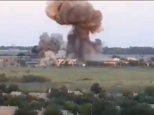 Всети интернет  появилось видео обстрелов позиций ВСУ из«Горыныча» вДонбассе