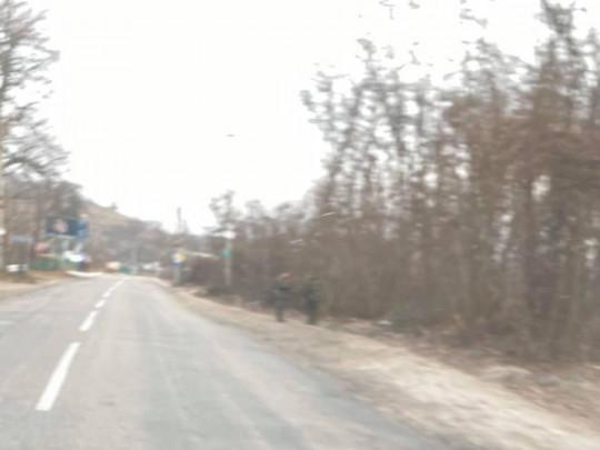 Нацгвардейцы на дороге