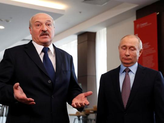 Президенты Лукашенко и Путин