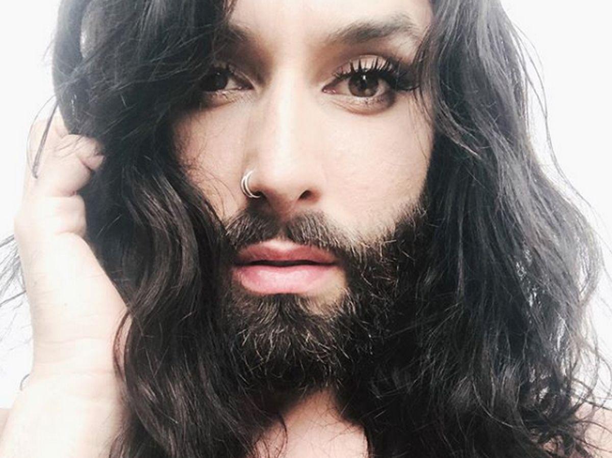 Гифка бородатая женщина