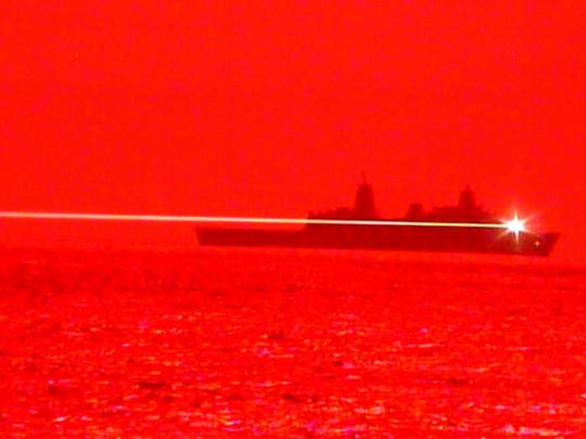 Лазерный луч с судна