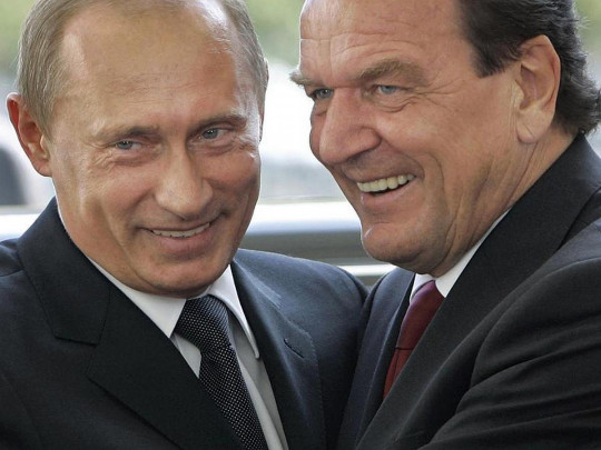 Путин и Шредер
