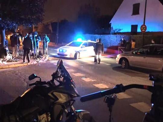 Полиция на месте теракта в пригороде Парижа