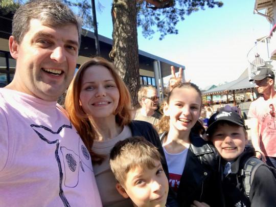 Галина Сергеева с семьей