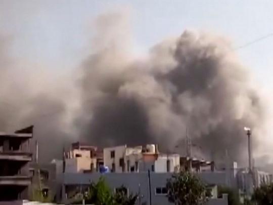 Пожар на заводе в Индии