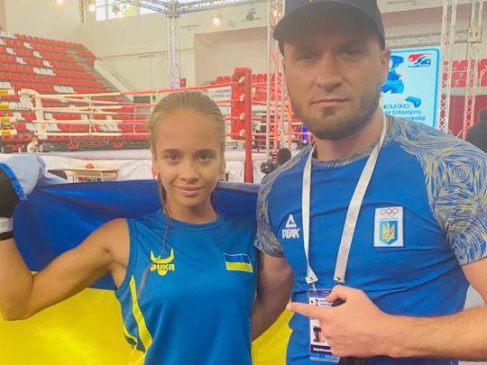 Кира Макогоненко с тренером