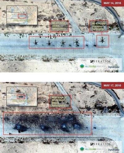 СМИ проинформировали обуничтожении вСирии четырех русских вертолетов