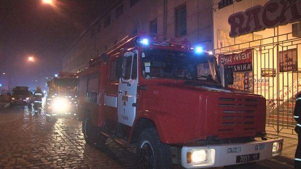 Вцентре Львова произошел пожар вжилом доме