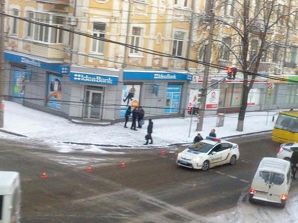 Вцентре Полтавы силовики задержали вооруженного правонарушителя