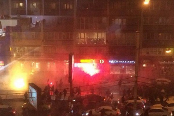 Впотасовке между футбольными фанатами вКиеве пострадали 10 иностранцев
