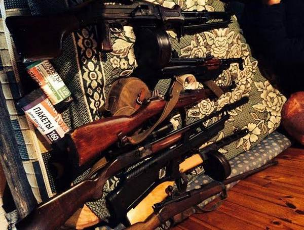 Уодесских разбойников изъят арсенал оружия исклад спиртного