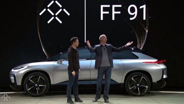 Faraday Future рассекретила 1050-сильный электрический кроссоверFF 91